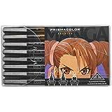 Prismacolor Premier Manga Illustration Markers, Assorted Tips, Black & Sepia, 8 Pack