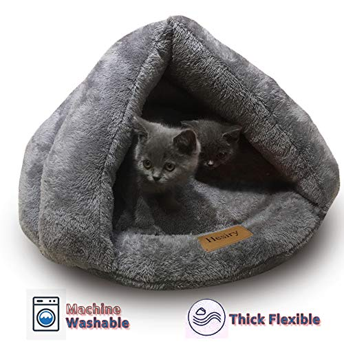 Hesiry Cat Cave Bed Small Dog Tent House for Indoor and Outdoor with Cozy Cushion, Machine Washable Small Animal Beds…