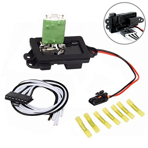 FAERSI HVAC Fan Blower Motor Resistor Kit With Harness for 04-07 Buick Rainier 02-09 Chevrolet Trailblazer GMC Envoy 04-08 Isuzu Ascender 02-04 Oldsmobile Bravada #89019100 RU377 3A1296 1581772