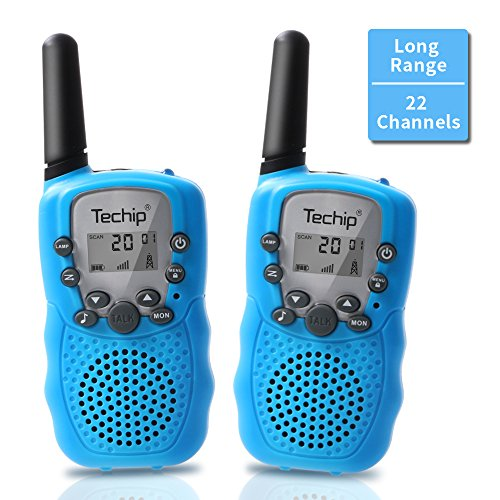 Walkie Talkies for Kids, Techip Kids Walkie Talkies Two-Way Radios with 22 Channels Portable FRS/GMRS Handheld Mini Kids Walkie Talkies Long Range 3.1 Miles (1 Pair ) Kids Range