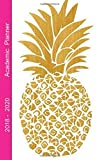 #6: Academic Planner 2018 - 2020: 2 - Year Pocket Monthly Planner : 24-Month Calendar (August 2018 - July 2020), Notes and Phone book, U.S. Holidays, Size ... Hand Lettering Notebook ( Golden Pineapple )