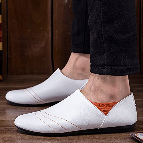Another Summer Mens Casual Style Lightweight Comfortable Loafers White2 vpa52YKkt