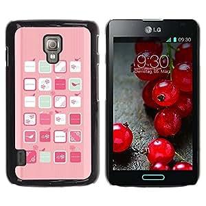 Paccase / SLIM PC / Aliminium Casa Carcasa Funda Case Cover para - Pink Bird Art Woman Feminine Flowers - LG Optimus L7 II P710 / L7X P714