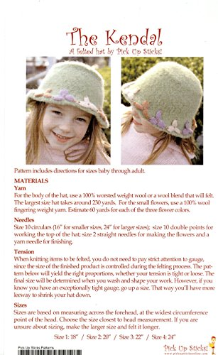 The Kendal: A Felted Hat Pattern by Pick Up Sticks - Knitting Felted Hat Pattern to Make for Baby - Adult (Felted Hats Knitting)
