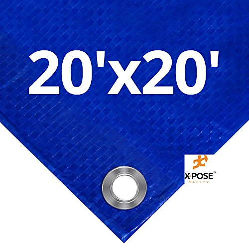 Xpose Safety Blue Poly Tarp 20' x 20' (Round Vs Princess Cut)