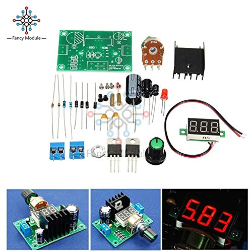 Power Inverter - New DIY Kit Electric LM317 Adjustable Voltage Regulator Step Down Power Supply Module with LED Meter Board (Simple Dc To Ac Converter Circuit Diagram)
