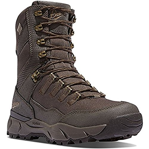 Danner Vital 8'' Brown Hunting Boots | Gore-TEX (GTX) Waterproof Hiking Leather Boots | Cushioning Molded PU Hunter Modern Battlefield Combat Boot (10.5 EE)