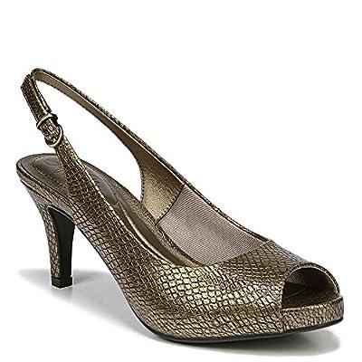 LifeStride Teller Women's Sandal 6.5 B(M) US Gold-Gold