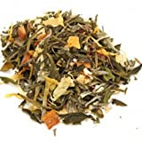 Green Ginger Peach Flavored Loose Leaf Tea Ripe Peach Flavor with a Hint of Ginger - 1 Pound