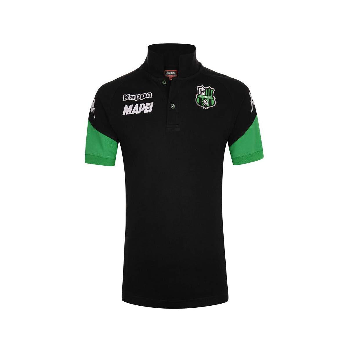 Kappa Polo U.S. Sassuolo ANGAT UOMO Calcio 303TLRO Nero-Verde ...
