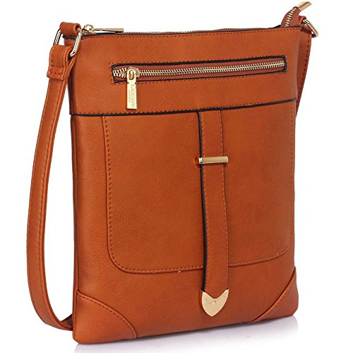 TrendStar - Bolso bandolera Mujer A-Brown Cross Body Bag