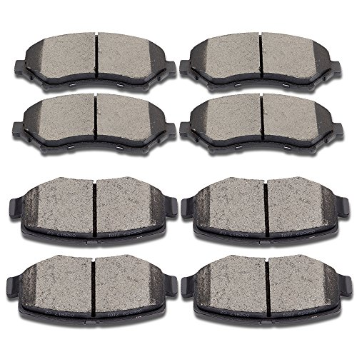 Dodge Nitro Jeep Wrangler - SCITOO Ceramic Disc Brake Pads Set Fit for 2007 2008 2009 2010 2011 2012 2013 2014 2015 2016 Jeep Wrangler,2008 2009 2010 2011 2012 Jeep Liberty,2007 2008 2009 2010 2011 Dodge Nitro