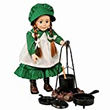 Little House on The Prairie Cooking Set, Fire Pit, Cauldron, Tripod, Skillet, Spider Fryer, Wooden Spoon, Accessories Fits 18' American Girl Dolls