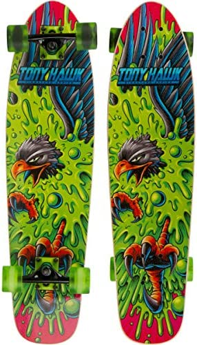 TONY HAWK 31 Complete Cruiser Skateboard – Graphic Longboard