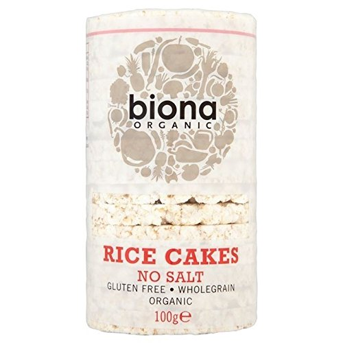 Biona Organic Rice Cakes No Salt 100g - Pack of 6