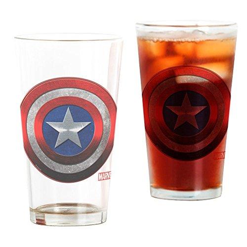 CafePress Captain America Grunge Pint Glass, 16 oz. Drinking -