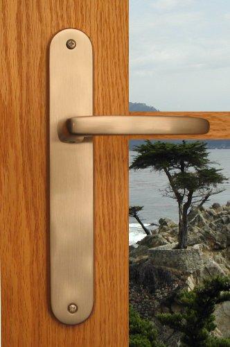 Bathroom Door Lock Privacy Door Lever Monterey Hardware for Left Hand Bathroom, Bedroom, Den, Toilet & Water Closet Doors in Brushed Chrome Finish