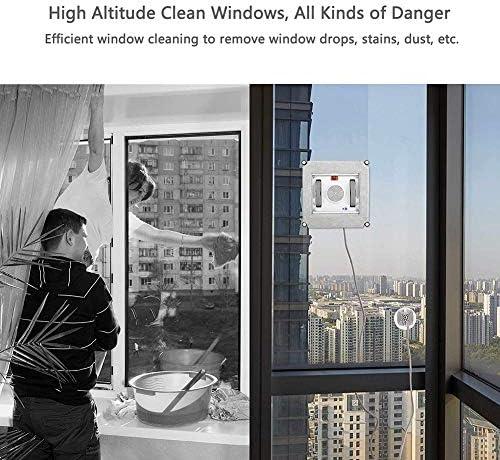 OOLIFENG Robot Laveur de vitre Intelligent 2.8 Min/1㎡, Lave Vitre Electrique UPS Anti-Chute avec Corde de Sécurité, 3 systèmes de Sécurité