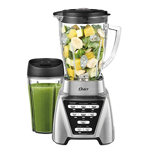 Oster Pro 1200 Plus Blend-N-Go Smoothie Cup - Brushed Nickel - Glass Jar