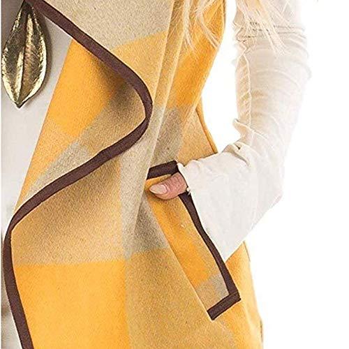 Automne Manches Veste 2018 Outercoat Sweat Rembourré Revers Cardigan En Manteau Capuche À Costume Hiver Gilet Blouse Sans Coton Rayure Jaune Épaisse Femme Pardessus Capuchon De Zycshang xF1w88