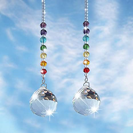 Indoor Porch Outdoor Suncatcher Window Beaded Hanging Bell Rainbow Beads Beaded Suncatcher Free Shipping Eligible Glass Beads