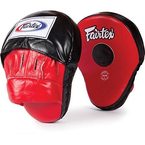 - Bangplee_Sport FAIRTEX FMV9 Ultimate Contoured Focus Mitts Punching Training Muay Thai Boxing (Red/Black)
