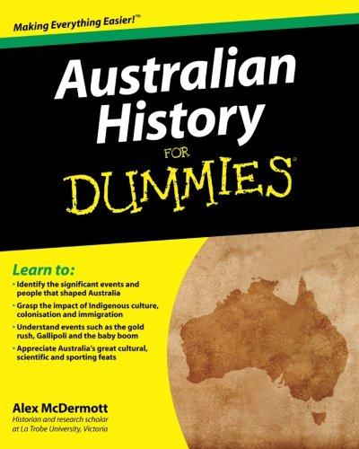 Australian History Dummies Alex McDermott product image