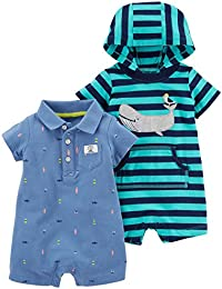 Baby Boys' One Piece Rompers (Pack of 2)