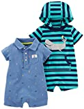 #9: Carter's Baby Boys' One Piece Rompers (Pack of 2)