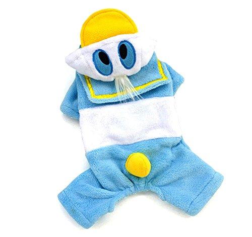 SMALLLEE_LUCKY_STORE Soft Coat Donald Duck Costume Jumpsuit, Medium]()