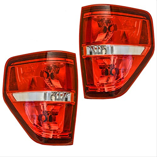 Tail Light Lamp LH Driver RH Passenger Pair Set for 09-14 Ford F150 Pickup Truck