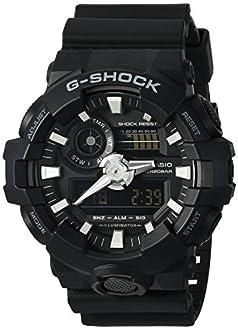 Casio Men's 'G Shock' Quartz Resin Casual Watch, Color:Black (Model: GA-700-1BCR)