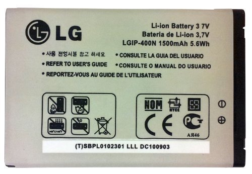 LG LGIP-400N Battery for LG Optimus GT540 / Optimus C LW690 / Optimus M MS690 / Optimus T P509 / Optimus S LS670 / Optimus U US670 / Optimus V VM670 / Optimus One P500 / Optimus One P503 / Puccini GT500S / Phoenix p505 / Thrive p506 / Genesis us760 / GX500 / GM750 / P520 / P525 - Retail Packaging