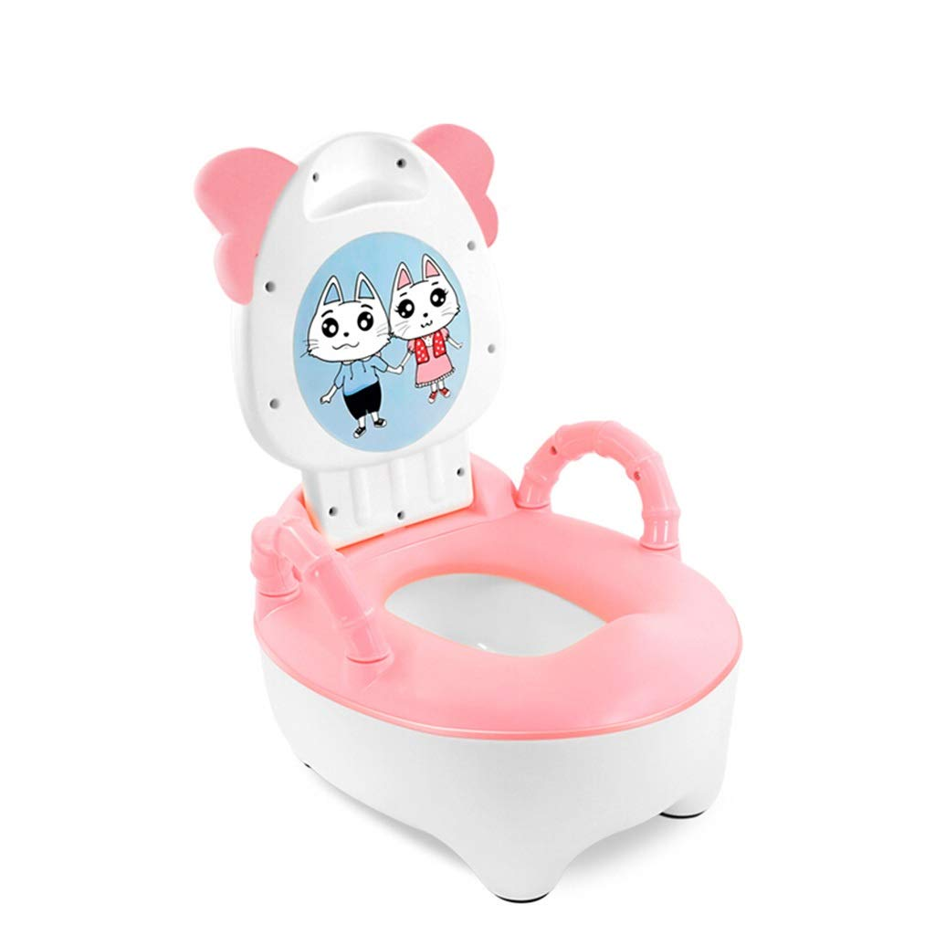 XWJC Children's Toilets Men's and Women's Baby Children's Toilets Large Baby Potty Urinals 1-3-6 Years Old Children's Drawer Type Toilets Easy to Clean Load-Bearing 60kg (Color : Pink)