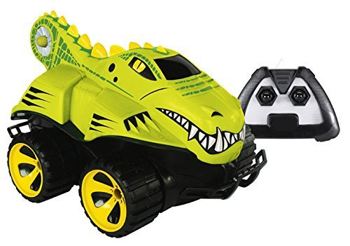 RC-02 New Amphibious Remote Control Green Crocodile Car Kids Holiday Gift