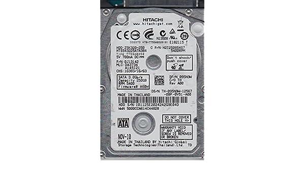 PN 0J13142 MLC DA3734 HTS543225A7A384 Hitachi 250GB SATA 2.5 Hard Drive