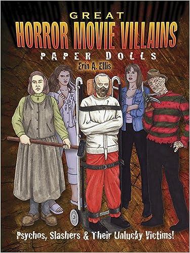 Amazon com: Great Horror Movie Villains Paper Dolls: Psychos