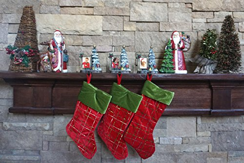 lulu decor cast iron decorative christmas tree stocking holder solid beautiful perfect for holiday gifts stocking hanger - Decorative Christmas Stocking Holders