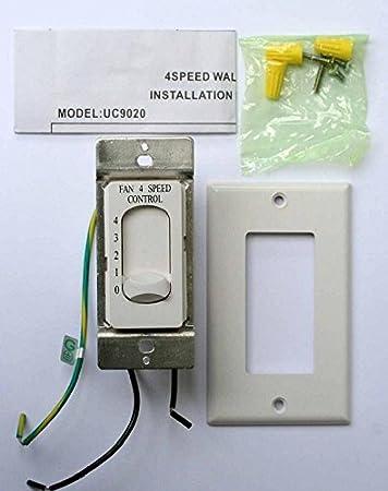 new rhine fan 4 speed control controller uc9020 new nib fan rh amazon com