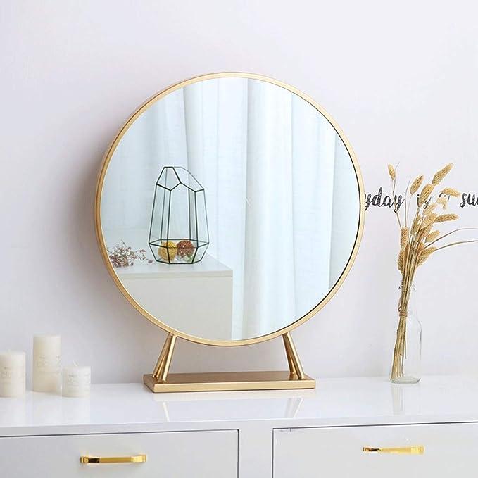Amazon Com Wz Bedroom Circular Wall Mirror 6060cm Gold Metal Frame Hd Wall Mirror Art Deco Modern For Makeup Bedroom Wardrobe Color Gold Size 6060cm Home Kitchen