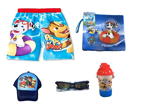 Nickelodeon Paw Patrol Characters Swim Trunks and Beach A...