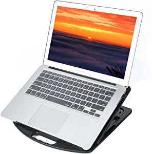 Laptop Stand, Plastic Ventilated Laptop Elevator Adjustable Portable Tablet Stand, Ergonomic Laptop Holder Foldable Laptop Riser for MacBook Air Pro, Dell XPS, More 10-15.6 inches Laptops&iPad