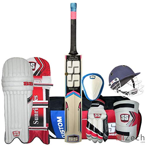 SS Economy Complete Cricket Kit Mens Size with Kashmir Willow Bat 100% Original
