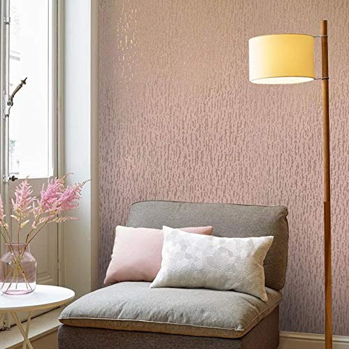 15m European Slavyanski modern vinyl wallpaper rose gold metallic pink plain faux rustic plaster coverings textured pattern 50 feet roll wallcoverings wall paper decal decor textures washable rolls