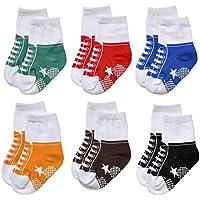 Epeius Unisex Baby Girls Boys Non-Slip Socks (Set of 6)