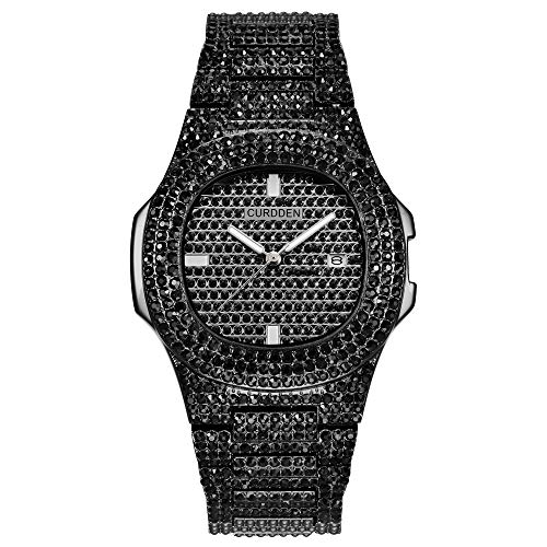 Nisaki Fashion Watch for Men and Women- Bling Bling Fashion Hip hop Crystal Diamond Watch