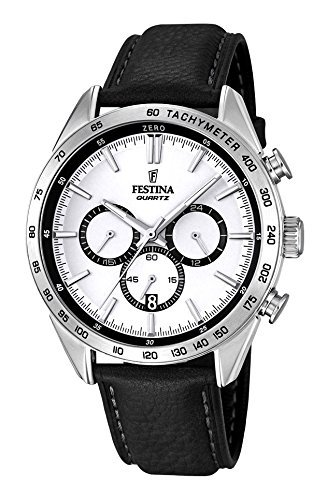 FESTINA watch men's chronograph leather band F16844 / 1 Men's [regular imported goods]