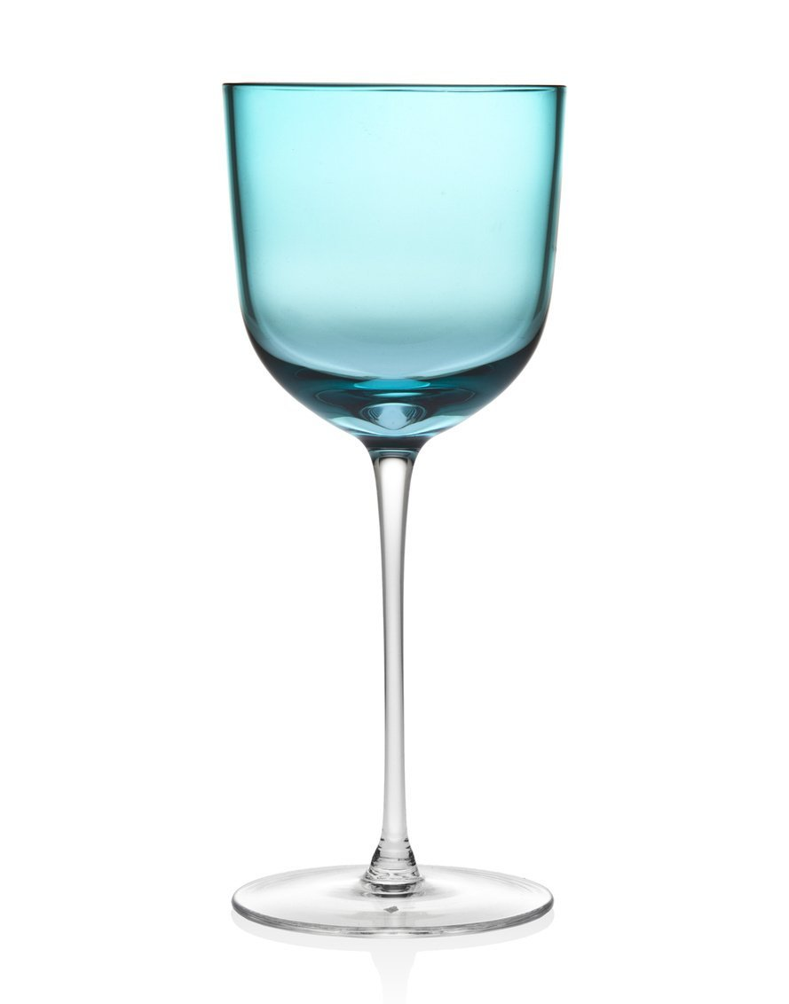 Godinger Silver Art Rondo Set of 4 Sea Blue Goblet