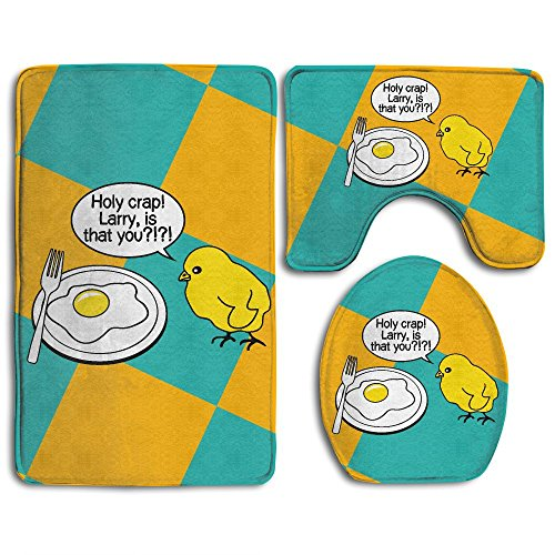 Holy Crap Larry Is That You Fashion Bath Mat Set Bathroom Accessories Bath Rug Sets 3 Piece by JYDPROV