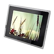LINGHOU Cadre photo numérique LCD de 12 pouces avec capteur de mouvement